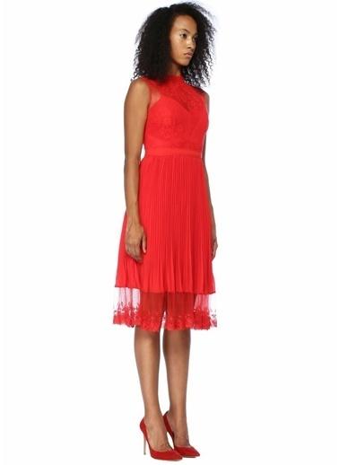 Floor Elbise Kırmızı